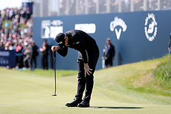 Matt Wallace misses his birdie put on 18th during day four of the Betfred British Masters at Hillside Golf Club, Southport.