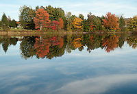 A fall day in Pittsfield, NH October 15, 2011.