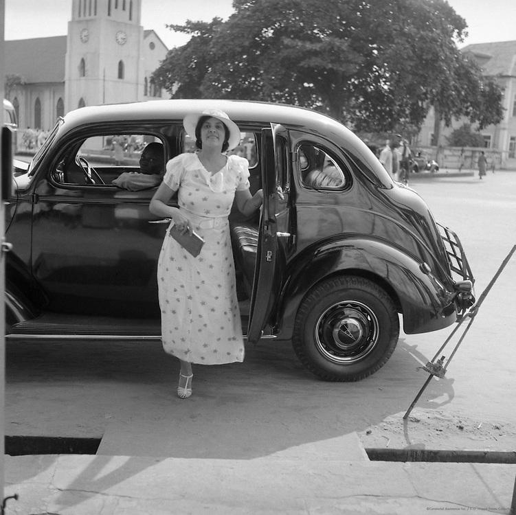 Mrs. Remrick, Negress Dressmaking Proprietress, Lagos, Nigeria, Africa, 1937