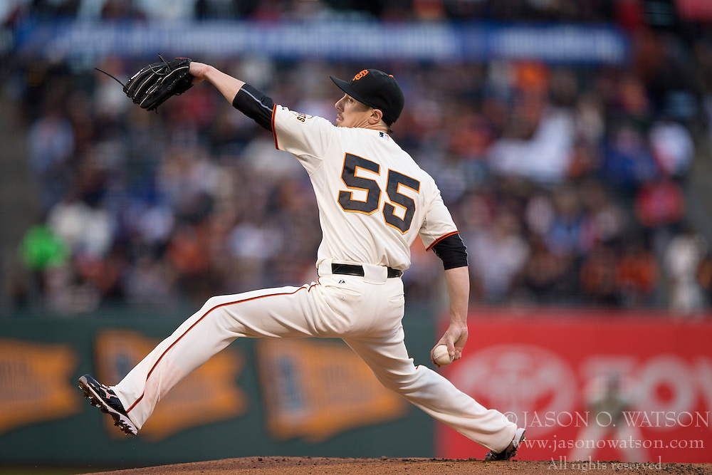 SAN FRANCISCO, CA - MAY 20:  Tim Lincecum #55 of the San Francisco Giants pitches against the Los Angeles Dodgers during the first inning at AT&T Park on May 20, 2015 in San Francisco, California.  (Photo by Jason O. Watson/Getty Images) *** Local Caption *** Tim Lincecum