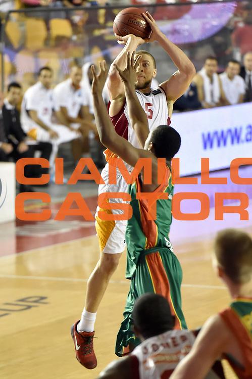 DESCRIZIONE : Roma Eurocup 2014/15 Acea Roma Baloncesto Seville<br /> GIOCATORE : Brandon Triche<br /> CATEGORIA : tiro three points<br /> SQUADRA : Acea Roma<br /> EVENTO : Eurocup 2014/15<br /> GARA : Acea Roma Baloncesto Seville<br /> DATA : 29/10/2014<br /> SPORT : Pallacanestro <br /> AUTORE : Agenzia Ciamillo-Castoria /GiulioCiamillo<br /> Galleria : Acea Roma Baloncesto Seville<br /> Fotonotizia : Roma Eurocup 2014/15 Acea Roma Baloncesto Seville<br /> Predefinita :
