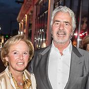NLD/Amsterdam/20161008 - JFK Greatest Man 2016, Nina Brink en partner Pieter Storms