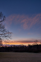 Winter Backyard Dawn Sky in New Jersey. Image 3 of 8 taken with a Fuji X-T1 camera and 16 mm f/1.4 lens (ISO 200, 16 mm, f/8, 1/60 sec). Raw images processed with Capture One Pro and the composite generated using AutoPano Giga Pro.