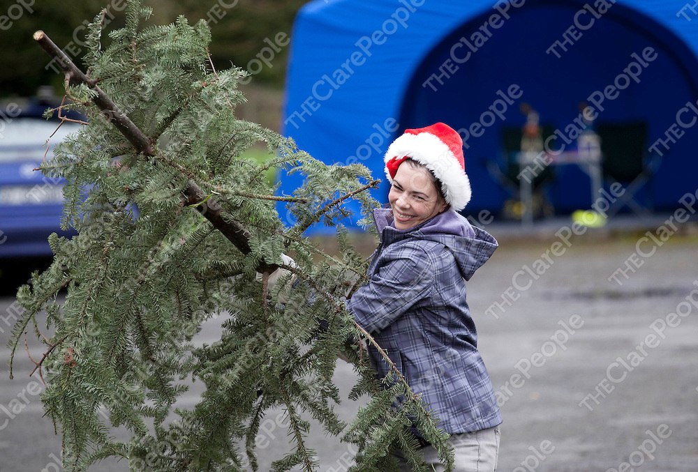 07.01.12<br /> The inaugural Irish Christmas Tree Throwing Championship took place on the grounds of OUr Lady's Hospital Gort Road, Ennis, Co Clare. All proceeds raised will go toward the development of a new Clare County Dog Shelter. Competing in the event was Niamh Cloake.<br /> <br /> Pic. Alan Place / Press 22