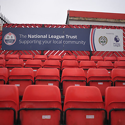 TELFORD COPYRIGHT MIKE SHERIDAN A general view of the Impact Arena National League trust signage during the Vanarama Conference North fixture between AFC Telford United and Alfreton Town at The Impact Arena on Wednesday, January 1, 2020.<br /> <br /> Picture credit: Mike Sheridan/Ultrapress<br /> <br /> MS201920-038