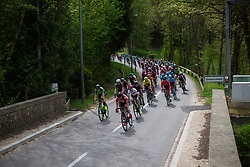 The peloton approaches Simmerschmelz on Stage 1 of the Festival Elsy Jacobs - a 97.7 km road race, starting and finishing in Steinfort on April 28, 2018, in Luxembourg. (Photo by Balint Hamvas/Velofocus.com)