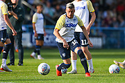 Leeds United midfielder Ezgjan Alioski (10) warming up during the Pre-Season Friendly match between Guiseley  and Leeds United at Nethermoor Park, Guiseley, United Kingdom on 11 July 2019.