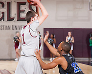 February 4, 2012: The Lubbock Christian University Chaparrals play against the Oklahoma Christian University Eagles at the Eagles Nest on the campus of Oklahoma Christian University.