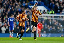 Jonathan Stead of Bradford City celebrates scoring a goal to make it 2-1 at half time - Photo mandatory by-line: Rogan Thomson/JMP - 07966 386802 - 24/01/2015 - SPORT - FOOTBALL - London, England - Stamford Bridge - Chelsea v Bradford City - FA Cup Fourth Round Proper.
