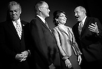 Sarah Palin: She Could Have Been Vice President..Republican Vice Presidential nominee Alaska Governor Sarah Palin talks to media after a lunch with Republican governors during the fourth and final day of the  Republican National Convention ? September 4, 2008.  From Left, Governors Don Carcieri, of Rhodes Island, Jim Douglas, of Vermont, and Sonny Perdue, of Georgia, joke with Sarah Palin before she spoke.