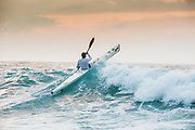 Hank Mc Gregor crests a wave off Ballito, his training grounds where he prepares for more world champion Kayaking titles.
