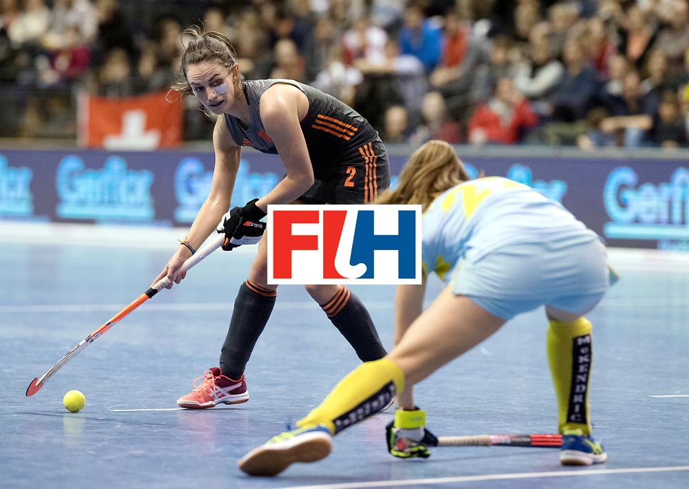 BERLIN - Indoor Hockey World Cup<br /> SF1 Netherlands - Ukraine<br /> foto: Kiki van Wijk <br /> WORLDSPORTPICS COPYRIGHT FRANK UIJLENBROEK