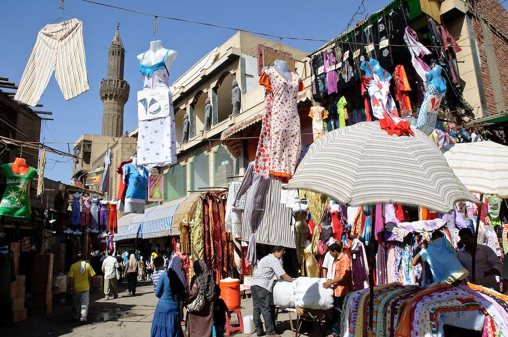 A market scene in Islamic Cairo