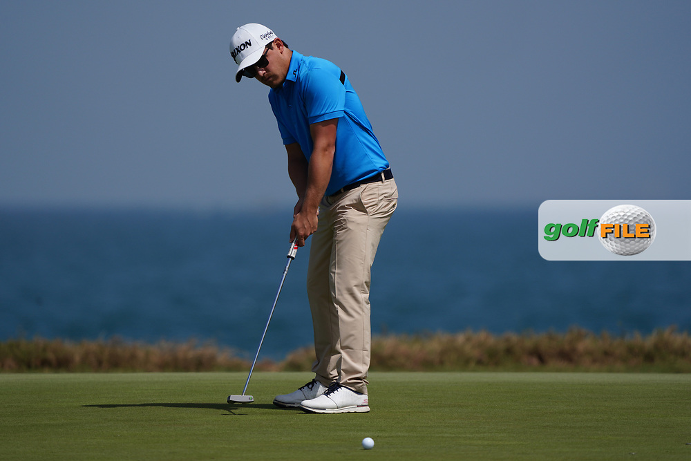 Darius Van Driel (NED) on the 9th during Round 3 of the Oman Open 2020 at the Al Mouj Golf Club, Muscat, Oman . 29/02/2020<br /> Picture: Golffile | Thos Caffrey<br /> <br /> <br /> All photo usage must carry mandatory copyright credit (© Golffile | Thos Caffrey)