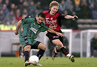 Fotball<br /> Belgia 2004/05<br /> Cercle Brugge v FC Brussel<br /> 12. desember 2004<br /> Foto: Digitalsport<br /> NORWAY ONLY<br /> SLOBODAN SLOVIC - BJØRN HELGE RIISE