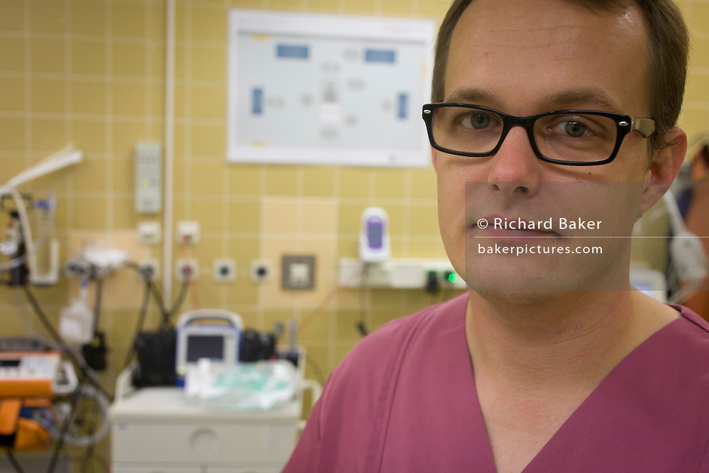 Paediatric nurse and aid worker Christian Schuh, of the Deutsches Rotes Kreuz (DRK - German Red Cross), Berlin, Germany.<br /> <br /> From the chapter entitled 'A life to save' and from the book 'Risk Wise: Nine Everyday Adventures' by Polly Morland (Allianz, The School of Life, Profile Books, 2015).