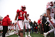 Players leaving warm ups before the Nebraska Huskers Spring Game on April 21, 2018. Photo by Ryan Loco.