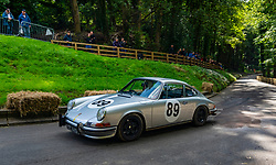Boness Revival hillclimb motorsport event in Boness, Scotland, UK. The 2019 Bo'ness Revival Classic and Hillclimb, Scotland's first purpose-built motorsport venue, it marked 60 years since double Formula 1 World Champion Jim Clark competed here.  It took place Saturday 31 August and Sunday 1 September 2019. 89 Margaret Adey Porsche 911T