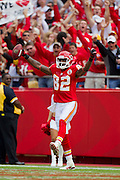 KANSAS CITY, MO - SEPTEMBER 26:   Dwayne Bowe #82 of the Kansas City Chiefs celebrates after catching a touchdown pass against the San Francisco 49ers at Arrowhead Stadium on September 26, 2010 in Kansas City, Missouri.  The Chiefs defeated the 49ers 31-10.  (Photo by Wesley Hitt/Getty Images) *** Local Caption *** Dwayne Bowe