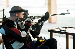 Laslo Suranji of Serbia during Practice session of R7 - Men's 50m Rifle 3 Positions SH1 on day 4 during the Rio 2016 Summer Paralympics Games on September 11, 2016 in Olympic Shooting Centre, Rio de Janeiro, Brazil. Photo by Vid Ponikvar / Sportida