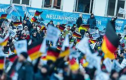 01.01.2017, Olympiaschanze, Garmisch Partenkirchen, GER, FIS Weltcup Ski Sprung, Vierschanzentournee, Garmisch Partenkirchen, Wertungsdurchgang, im Bild deutsche Fans mit Bundesflaggen // German Fans waves their national Flags during Competition Jump for the Four Hills Tournament of FIS Ski Jumping World Cup at the Olympiaschanze in Garmisch Partenkirchen, Germany on 2017/01/01. EXPA Pictures © 2017, PhotoCredit: EXPA/ JFK