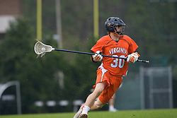 05 April 2008: Virginia Cavaliers defenseman Bray Malphrus (30) during a 11-12 OT win over the North Carolina Tar Heels on Fetzer Field in Chapel Hill, NC.