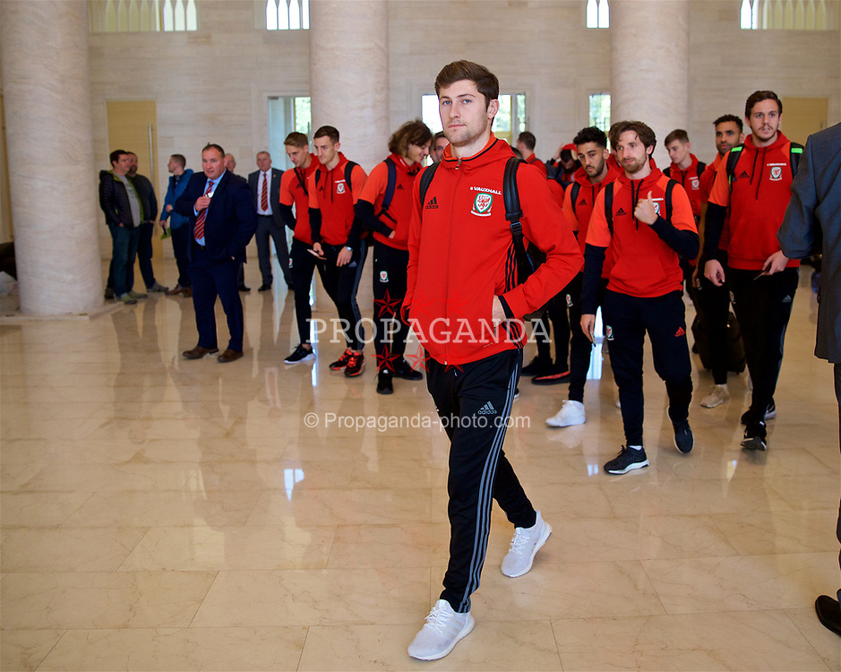 TBILSI, GEORGIA - Saturday, October 7, 2017: Wales' Ben Davies at the Shota Rustaveli Tbilisi International Airport as the squad depart after of the 2018 FIFA World Cup Qualifying Group D match against Georgia. (Pic by David Rawcliffe/Propaganda)