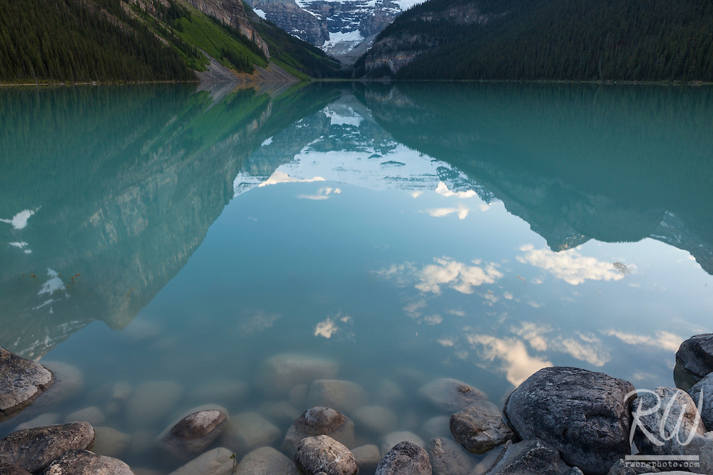 Lake Louise Shoreline, Banff National Park, Alberta, Canada