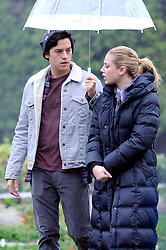 EXCLUSIVE: Onscreen Couple Lili Reinhart and Cole Sprouse Film Scenes for 'Riverdale' in Canada. The couple have been rumored to be dating off screen after being seen together on multiple occasions. Cole Sprouse plays Jughead on the hit TV show, which is currently filming it's second season in Vancouver, Canada. Lily plays Betty Cooper. 14 Nov 2017 Pictured: Lili Reinhart, Cole Sprouse. Photo credit: MEGA TheMegaAgency.com +1 888 505 6342