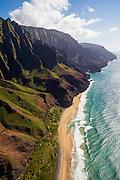 Kalalau Beach, Napali Coast, Kauai, Hawaii