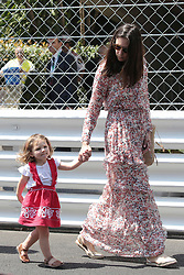 Tatiana Santo Domingo and her daugther India walk along the pit lane at the 75th Monaco Gran Prix, Monaco on May 28th, 2017. Photo by Marco Piovanotto/ABACAPRESS.COM