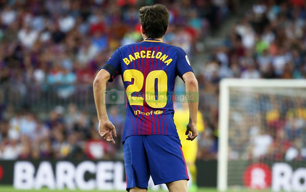 August 20, 2017 - Barcelona, Catalonia, Spain - Sergi Roberto during La Liga match between F.C. Barcelona v Real Betis Balompie, in Barcelona, on August 20, 2017. hoto: Joan Valls/Urbanandsport/Nurphoto  (Credit Image: © Joan Valls/NurPhoto via ZUMA Press)