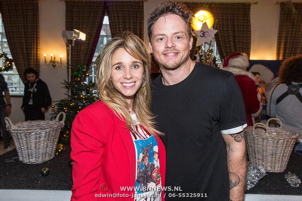 NLD/Amsterdam/20181206 - Sky Radio's Christmas Tree For Charity, Ellen Hoog en partner Kelvin de Lang