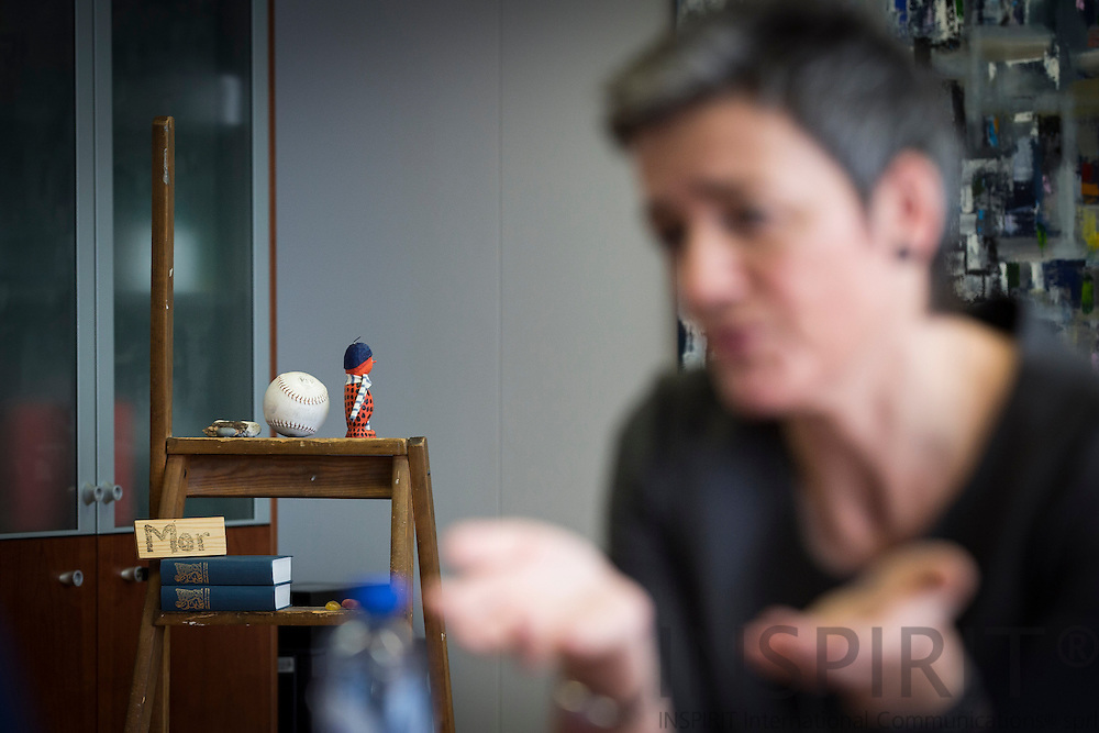 Margrethe Vestager, EU Commissioner for Competition during an interview at her office in Brussels 19 January 2015. Photo: Erik Luntang