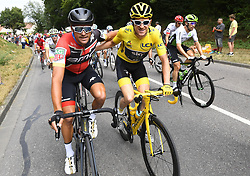 July 29, 2018 - Paris Champs-Elysees, France - PARIS CHAMPS-ELYSEES, FRANCE - JULY 29 : VAN AVERMAET Greg (BEL) of BMC Racing Team & THOMAS Geraint (GBR) of Team SKY  during stage 21 of the 105th edition of the 2018 Tour de France cycling race, a stage of 116 kms between Houilles and Paris Champs-Elysees on July 29, 2018 in Paris Champs-Elysees, France, 29/07/18  (Credit Image: © Panoramic via ZUMA Press)