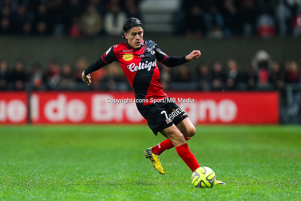 Dorian LEVEQUE  - 03.12.2014 - Guingamp / Caen - 16eme journee de Ligue 1 <br /> Photo : Vincent Michel / Icon Sport
