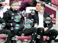 Football - 2017 / 2018 Premier League - West Ham United vs. Swansea City<br /> <br /> West Ham manager Slaven Bilic with a bubble above his head, at The London Stadium.<br /> <br /> COLORSPORT/WINSTON BYNORTH