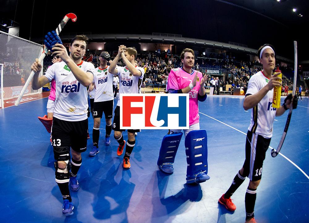 BERLIN - Indoor Hockey World Cup<br /> Men: Germany -  Trinidad &amp; Tobago<br /> foto: Tobias Hauke.<br /> WORLDSPORTPICS COPYRIGHT FRANK UIJLENBROEK