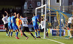 Danny Lloyd of Peterborough United (not in picture) scores his sides equalising goal - Mandatory by-line: Joe Dent/JMP - 12/11/2017 - FOOTBALL - Cherry Red Records Stadium - Kingston upon Thames, England - AFC Wimbledon v Peterborough United - Sky Bet League One