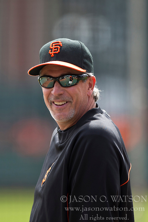 SAN FRANCISCO, CA - APRIL 26:  Bench coach Ron Wotus #23 of the San Francisco Giants looks on during batting practice before the game against the Cleveland Indians at AT&T Park on April 26, 2014 in San Francisco, California. The San Francisco Giants defeated the Cleveland Indians 5-3.  (Photo by Jason O. Watson/Getty Images) *** Local Caption *** Ron Wotus