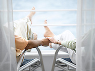 Oceania balcony couple holding hands
