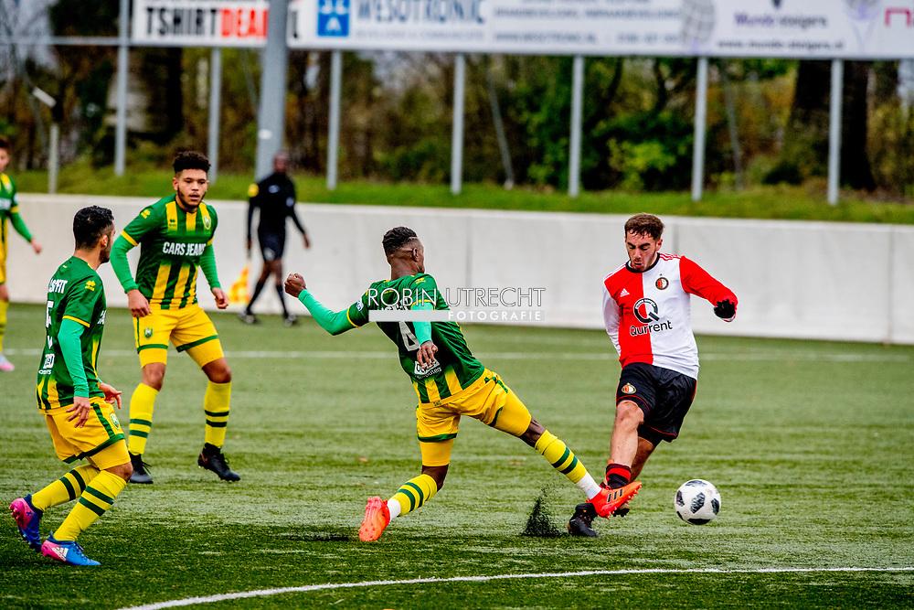 BARENDRECHT -  Feyenoord 2 speelt voor het eerst weer een wedstrijd tegen ado den haag in barendrecht . ROBIN UTRECHT
