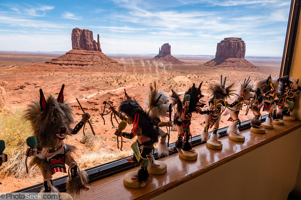 Dancing figures for sale at Visitor Center & Museum at Monument Valley Navajo Tribal Park, Arizona, USA.