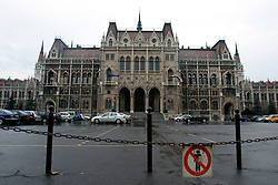 HUNGARY BUDAPEST 19NOV04 - Hungary's neo-Gothic Parliament Building...jre/Photo by Jiri Rezac..© Jiri Rezac 2004..Contact: +44 (0) 7050 110 417.Mobile:  +44 (0) 7801 337 683.Office:  +44 (0) 20 8968 9635..Email:   jiri@jirirezac.com.Web:     www.jirirezac.com..© All images Jiri Rezac 2004 - All rights reserved.