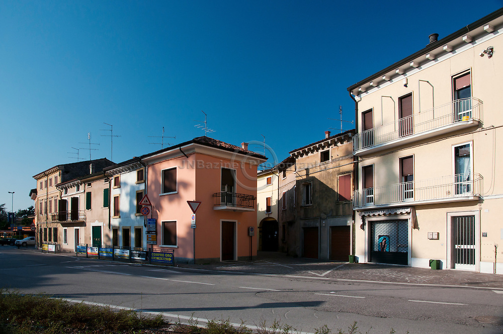 Street scene in Valeggio sul Mincio, Veneto region Italy