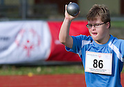 VI Special Olympics Athletics Meeting in Konin on September 28, 2012...Poland, Konin, September 28, 2012..Picture also available in RAW (NEF) or TIFF format on special request...For editorial use only. Any commercial or promotional use requires permission...Photo by © Adam Nurkiewicz / Mediasport