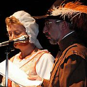 Nieuwjaarsreceptie 1998 gemeente Huizen, Thomasvaer en Pieternel
