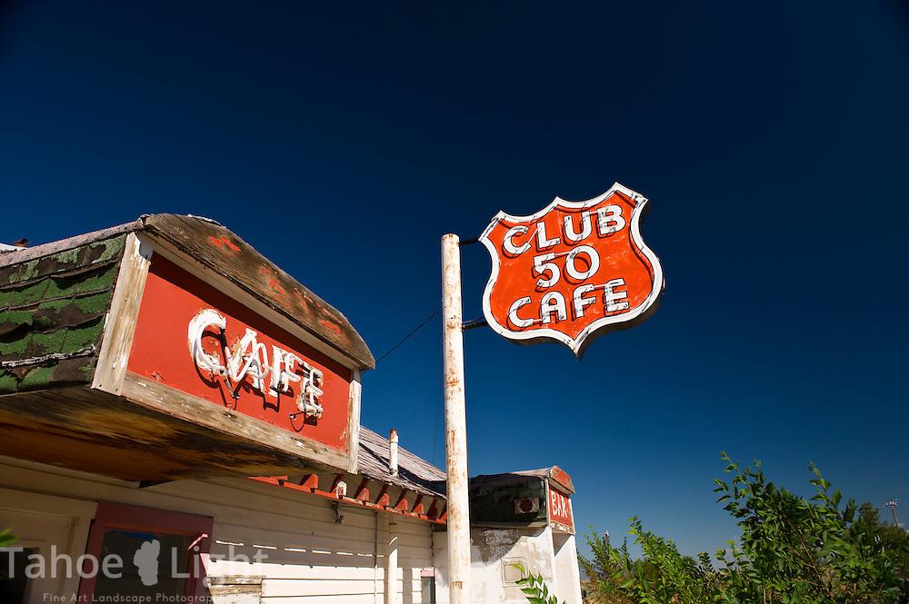The abandoned Club 50 Cafe near Ely, Nevada