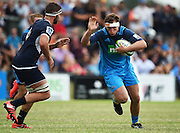 Sam Prattley in action during a pre season Super Rugby match. Blues v Storm, Pakuranga Rugby Club, Auckland, New Zealand. Thursday 4 February 2016. Copyright Photo: Andrew Cornaga / www.Photosport.nz