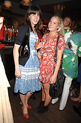 Left to right, LADY LAURA CATHCART and ALICE DAWSON at a party to celebrate the launch of the Boodles Wonderland jewellery collection held at the Haymarket Hotel, 1 Suffolk Place, London on 9th June 2008.<br />